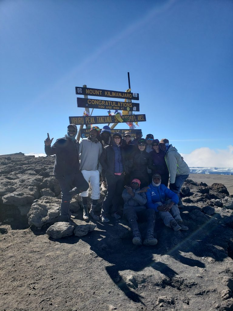 Climbing Team of Porters with Amy Stoehr Mt Kilimanjaro September 2019